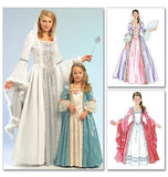 McCall's - M5731 Misses'/Girls' Princess Costumes - WeaverDee.com Sewing & Crafts - 2