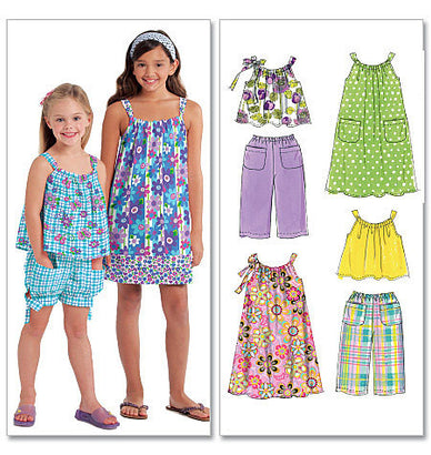 McCall's - M5797 Children's/Girls' Tops, Dresses, Shorts and Pants - WeaverDee.com Sewing & Crafts - 1