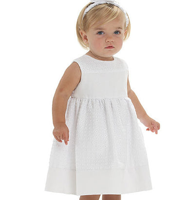 McCall's - M6015 Infants' Lined Dresses, Panties & Headband - WeaverDee.com Sewing & Crafts - 1