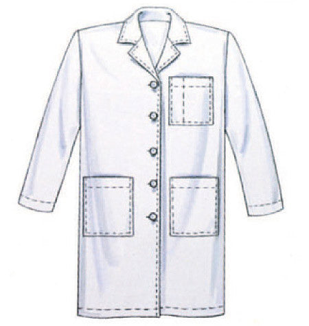 McCall\'s Sewing Pattern: M6107 Misses\'/Men\'s Doctor / Nurse Lab Coat ...