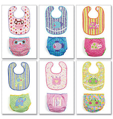 McCall's - M6108 Infants' Bibs & Nappy Covers - WeaverDee.com Sewing & Crafts - 1