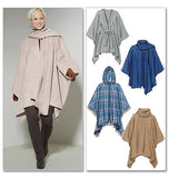 McCall's - M6209 Misses' Ponchos & Belt - WeaverDee.com Sewing & Crafts - 3