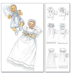 McCall's - M6221 Infants' Christening Outfits - WeaverDee.com Sewing & Crafts - 1