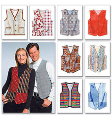 McCall's - M6228 Misses'/Men's Lined Waistcoats - WeaverDee.com Sewing & Crafts - 1