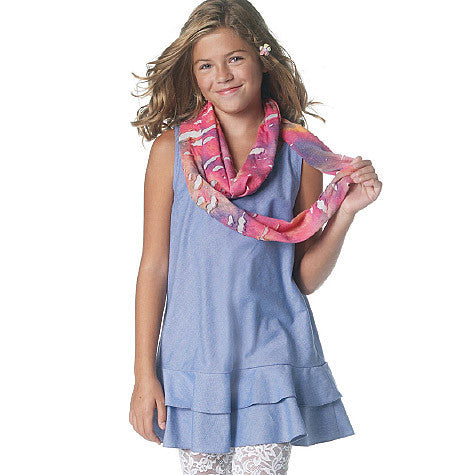 McCall's - M6275 Girls' Dresses, Scarf & Leggings - WeaverDee.com Sewing & Crafts - 1