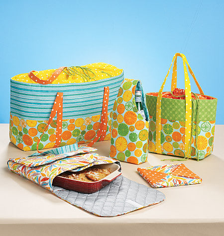 McCall's - M6338 Carriers, Hot Pad & Picnic Totes | by Nancy Zieman - WeaverDee.com Sewing & Crafts - 1