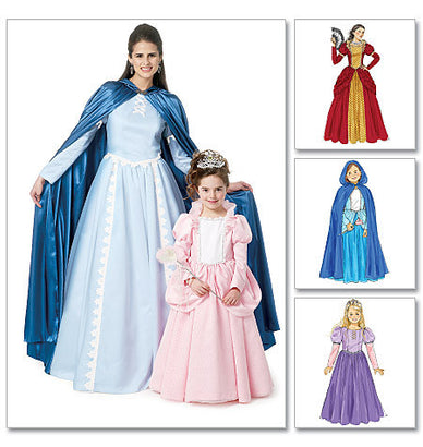 McCall's - M6420 Fairytale Cape & Dress Costumes | Misses'/Girls' - WeaverDee.com Sewing & Crafts - 1