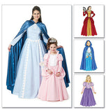 McCall's - M6420 Fairytale Cape & Dress Costumes | Misses'/Girls' - WeaverDee.com Sewing & Crafts - 2