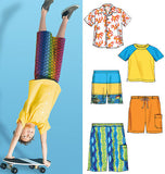 McCall's - M6548 Boys' Shirt, Top & Shorts - WeaverDee.com Sewing & Crafts - 3