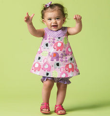McCall's - M6912 Infants' Reversible Top, Dresses; Bloomers & Pants | Easy - WeaverDee.com Sewing & Crafts - 1