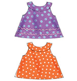 McCall's - M6912 Infants' Reversible Top, Dresses; Bloomers & Pants | Easy - WeaverDee.com Sewing & Crafts - 5