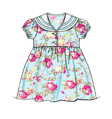 McCall's - M6913 Toddlers' Dresses & Tie Ends - WeaverDee.com Sewing & Crafts - 1