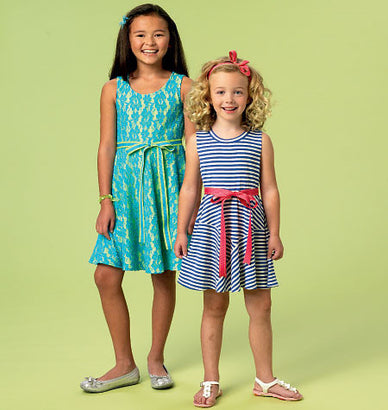 McCall's - M6915 Girls' Dresses | Easy - WeaverDee.com Sewing & Crafts - 1