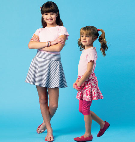 McCall's - M6918 Girls' Skorts | Easy - WeaverDee.com Sewing & Crafts - 1
