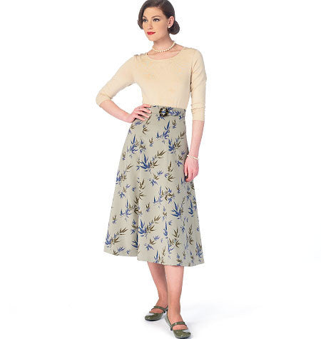 McCall's - M6993 Misses' Skirts & Belt - WeaverDee.com Sewing & Crafts - 1