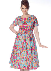 McCall's - M7086 Misses'/Women's Dolman Sleeve Dresses - WeaverDee.com Sewing & Crafts - 1