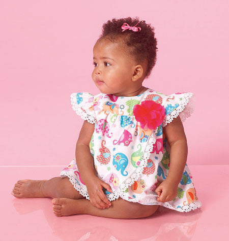 McCall's - M7107 Infants' Rompers | Easy - WeaverDee.com Sewing & Crafts - 1