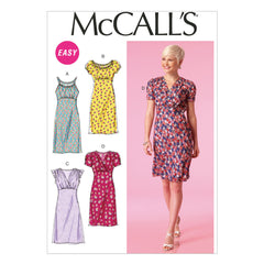 McCall's - M7116 Misses' Dresses | Easy - WeaverDee.com Sewing & Crafts - 1
