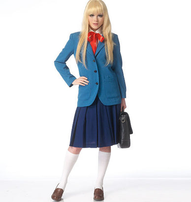 McCall's - M7141 School Uniform Jacket, Vest, Blouse & Pleated Skirt - WeaverDee.com Sewing & Crafts - 1
