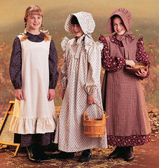McCall's - M7231 Girls' Pioneer Costumes - WeaverDee.com Sewing & Crafts - 1