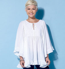 McCall's - M7325 Misses' Gathered Tops & Tunic | Easy - WeaverDee.com Sewing & Crafts - 1