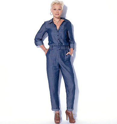 McCall's - M7330 Misses' Button-Up Utility Jumpsuits & Rompers - WeaverDee.com Sewing & Crafts - 1