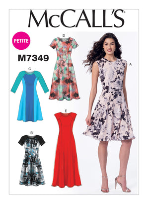 McCall's - M7349 Pullover Fit & Flare Dresses - WeaverDee.com Sewing & Crafts - 1