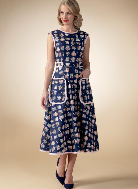 McCall's - M7354 Vintage 1950s Back-Wrap Dresses (Child / Adult) - WeaverDee.com Sewing & Crafts - 1