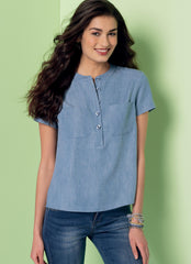 McCall's - M7360 Misses' Henley Tops - WeaverDee.com Sewing & Crafts - 1
