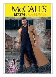 McCall's - M7374 Mens' Trench Coats - WeaverDee.com Sewing & Crafts - 1