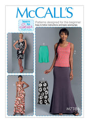 McCall's - M7386 Very Easy Misses' Knit Tank Top, Dresses & Skirts - WeaverDee.com Sewing & Crafts - 1