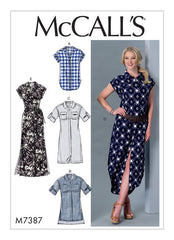McCall's - M7387 Misses' Button-Down Top, Tunic, Dresses & Belt - WeaverDee.com Sewing & Crafts - 1