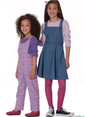 McCall's - M7459 Children's/Girls' Jumpers & Overalls - WeaverDee.com Sewing & Crafts - 1