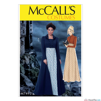McCall's - M7493 Regency Jane Austen Dress Jacket Costume - WeaverDee.com Sewing & Crafts - 1