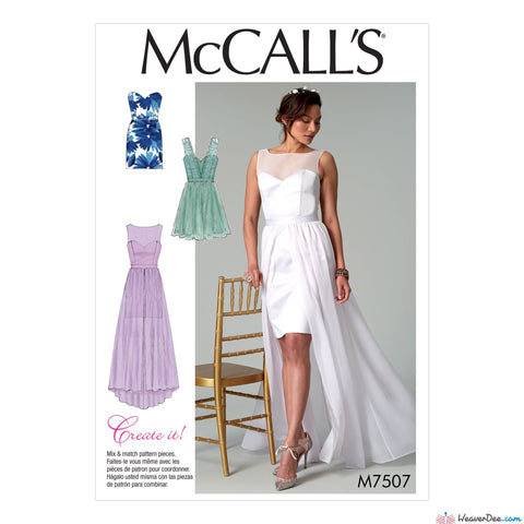 McCall's - M7507 Misses' Mix-and-Match Sweetheart Dresses - WeaverDee.com Sewing & Crafts - 1