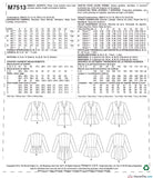 McCall's - M7513 Misses' Notch-Collar, Peplum Jackets - WeaverDee.com Sewing & Crafts - 8