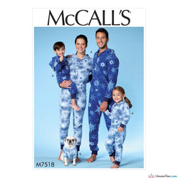 McCall's - M7518 Unisex Onesie (Adult / Child / Dog) - WeaverDee.com Sewing & Crafts - 1