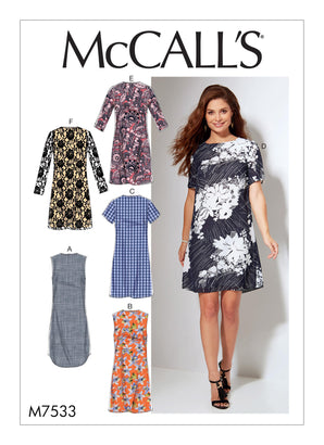 McCall's - M7533 Misses'/Women's Fitted, Sheath Dresses - WeaverDee.com Sewing & Crafts - 1