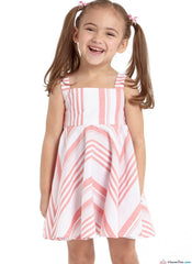 M7587 Children's/Girls' Dresses with Square Neck & Circular Skirt Variations