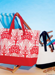 McCall's Pattern M7611 Misses' Lined Tote Bags with Handle and Contrast Options