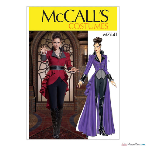 McCall's Pattern M7641 Misses' Evil Queen Jacket Costume with Belt