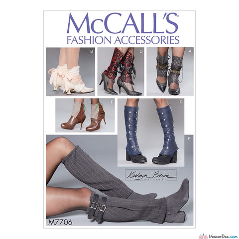 McCall's Pattern M7706 Misses' Shoe Spats