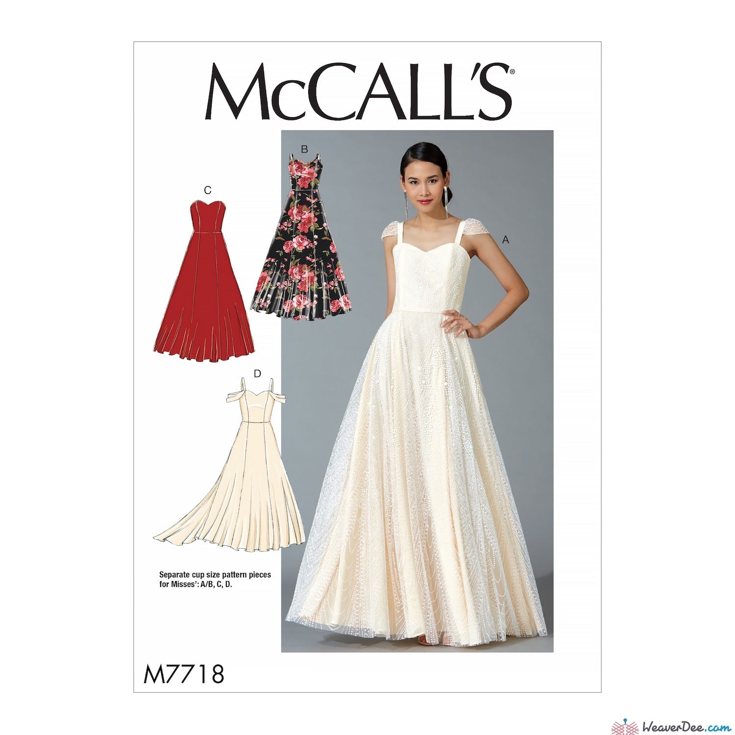 McCall\'s Pattern: M7718 Misses\' Special Occasion / Bridal Dresses ...