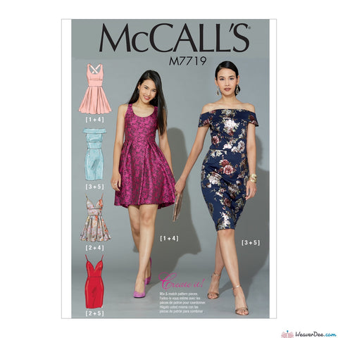 McCall's Pattern M7719 Misses' Dresses