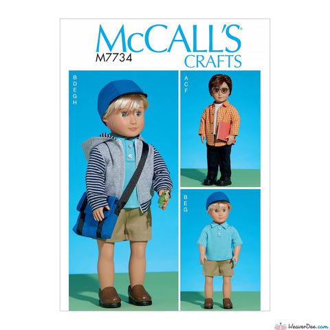 "McCall's Pattern M7734 Clothes For 18"" Boy Doll"