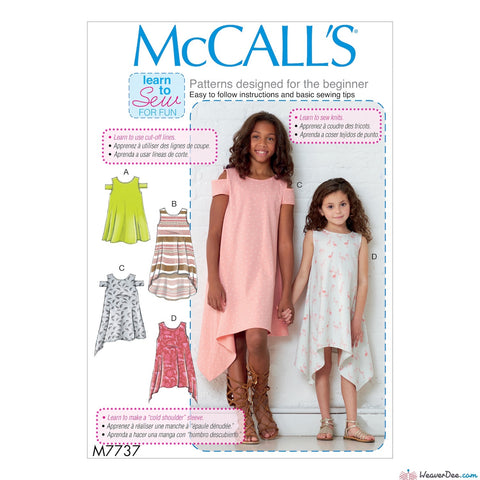 McCall's Pattern M7737 Children's/Girls' Dresses