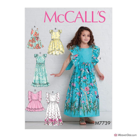 McCall's Pattern M7739 Children's/Girls' Dresses