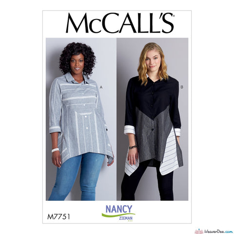 McCall's Pattern M7751 Misses' Shirts