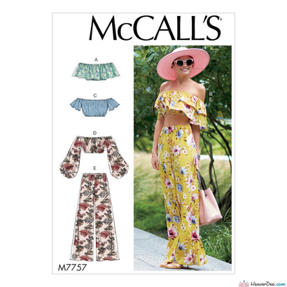 McCall's Pattern M7757 Misses' Tops & Pants