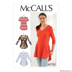 McCall's Pattern M7782 Misses'/Women's Tops